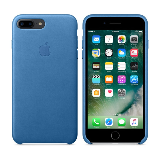 Apple Leather Case iPhone 8/7 Plus - Sea Blue