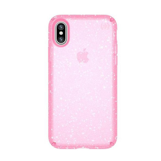 Speck Presidio Clear Glitter iPhone X - Pink