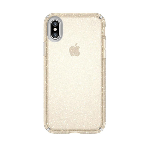 Speck Presidio Clear Glitter iPhone X - Clear