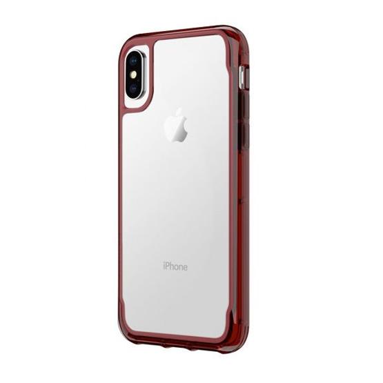 Griffin Survivor Clear iPhone X/XS - Dark Red