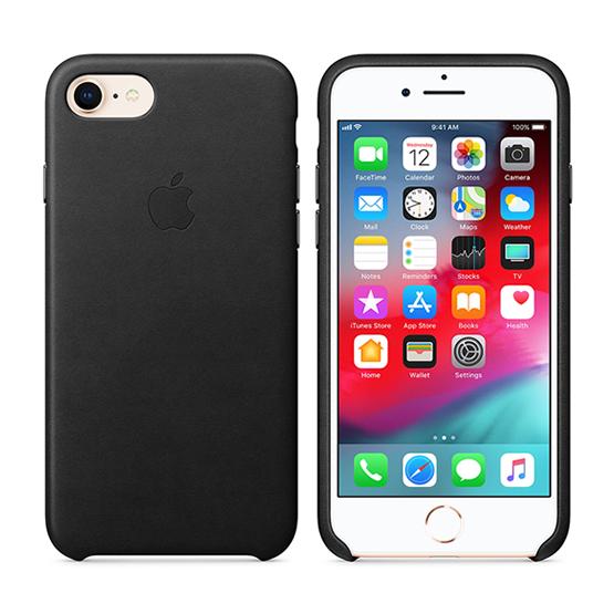 Apple Leather Case iPhone 7/8/SE2 - Black
