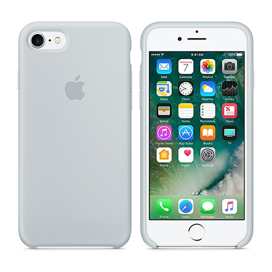 Apple Silicone Case iPhone 8/7 - Mist Blue