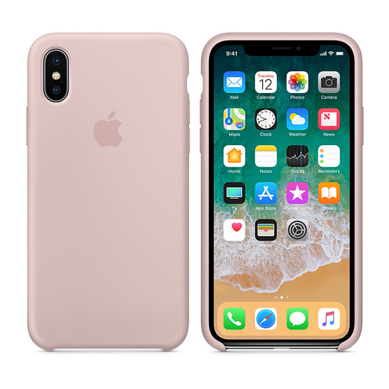 Apple Silicone Case iPhone X - Pink