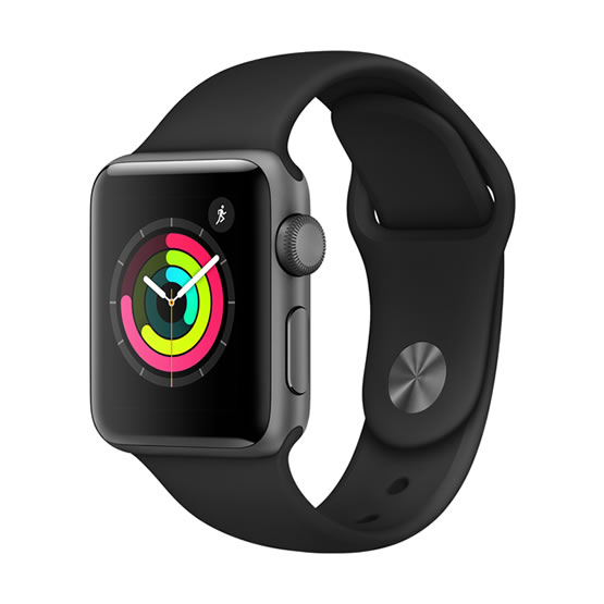 Apple Watch Series 3 - 38mm - Space Gray/Black