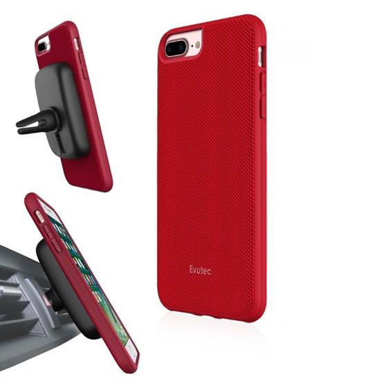 Evutec Aergo Case iPhone 8 Plus/7 Plus + Vent Mount -  Red