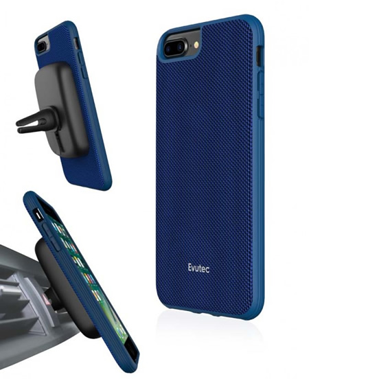 Evutec Aergo Case iPhone 8 Plus/7 Plus + Vent Mount -  Blue
