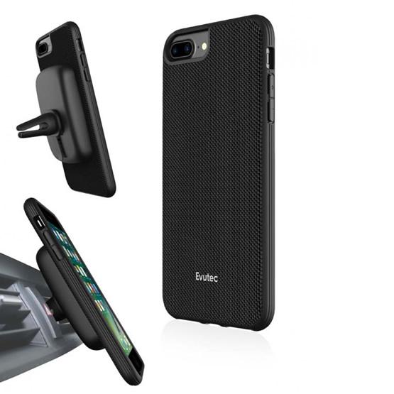 Evutec Aergo Case iPhone 8 Plus/7 Plus + Vent Mount -  Black
